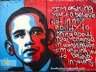 Obama graffitti
